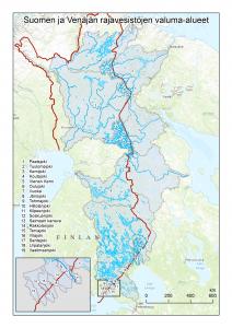 Suomen ja Venäjän rajavesistöjen valuma-alueet